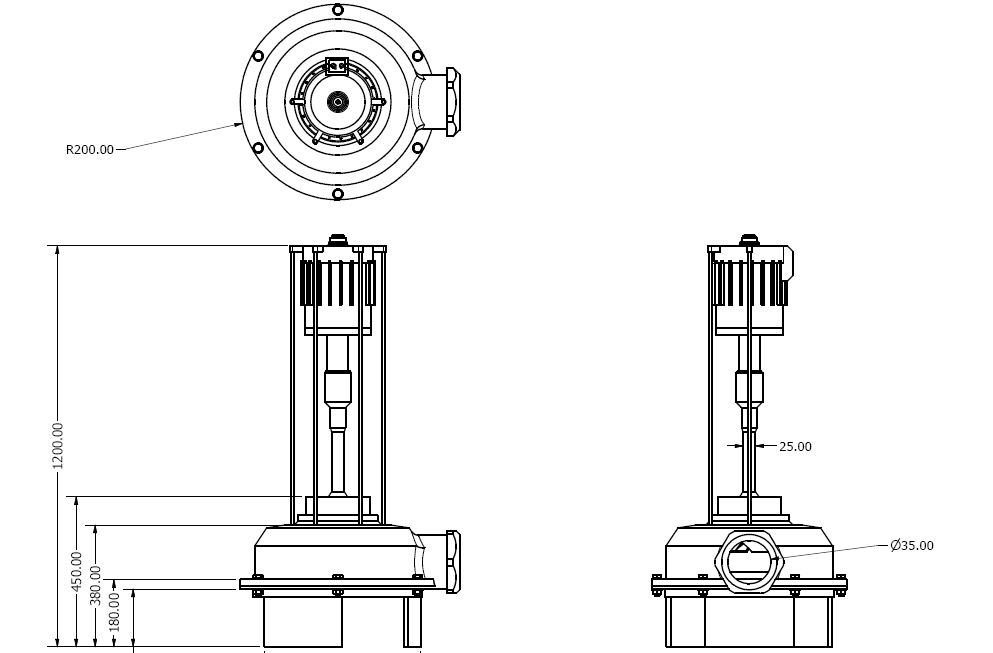 Design of a vertical spindle pump design
